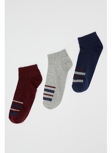 DeFacto 3'lü Patik  Çorap Renkli